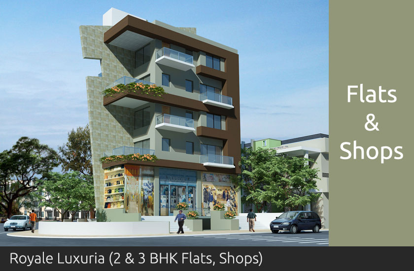 Royale Luxuria 2 and 3 BK Flats and Shops - Shah Developers Sangli